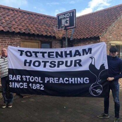 Large Custom Football Flag Tottenham Hotspur 10ft x 5ft