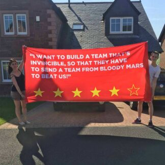 Large Custom Made Banner Liverpool