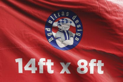 14ft x 8ft football flag ultras design logo