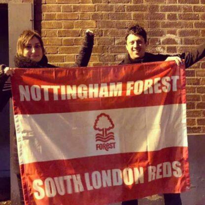 Small Custom Football Flag Nottingham Forrest