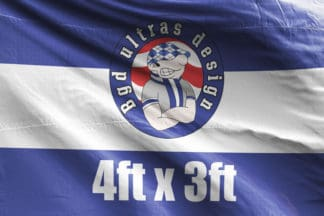 4ft x 3ft football flag ultras design logo