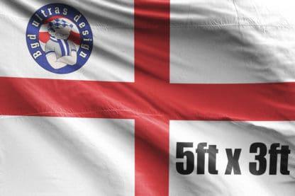 5ft x 3ft football flag ultras design logo
