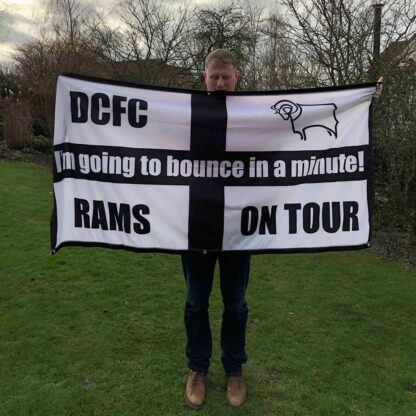 Personalised Football Flag 6ft x 3ft Derby County