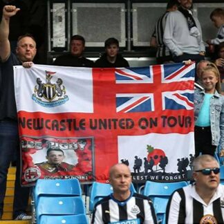 Custom Football Flag Newcastle United On Tour 6ft x 4ft