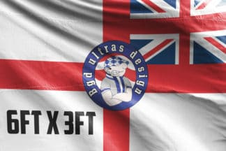 6ft x 3ft football flag ultras design logo