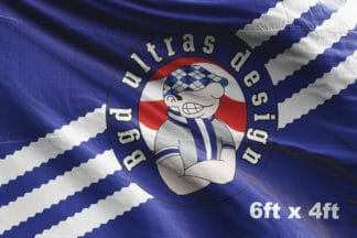 6ft x 4ft football flag ultras design logo