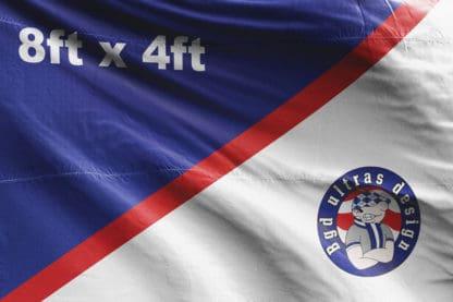 8ft x 4ft football flag ultras design logo