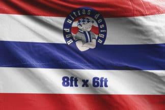 8ft x 6ft football flag ultras design logo