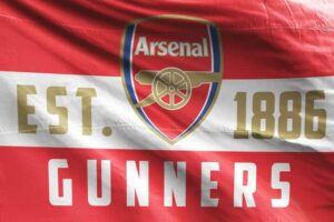Arsenal FC Flag Est. 1886 Gunners
