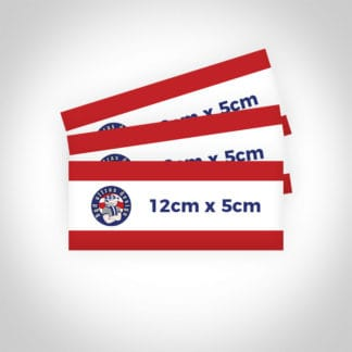 Custom-designed-ultra-football-stickers-12cm-x-5cm