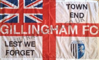 Gillingham-FC-Lest-we-forget-town-end-football-flag