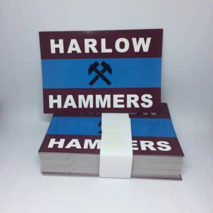 Harlow Hammers FC football stickers