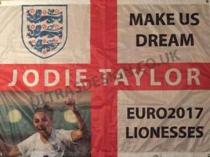 Jodie-Taylor-EURO2017-football-flag