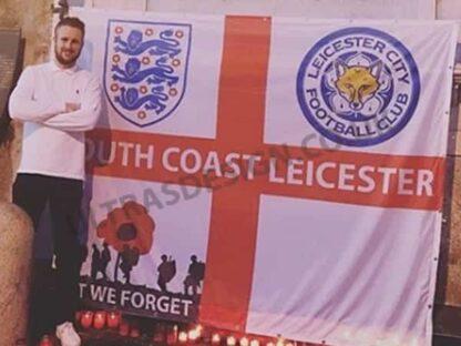 Leicester FC South coast Leicester 8ft x 6ft football flag