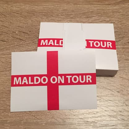Maldo on tour football stickers