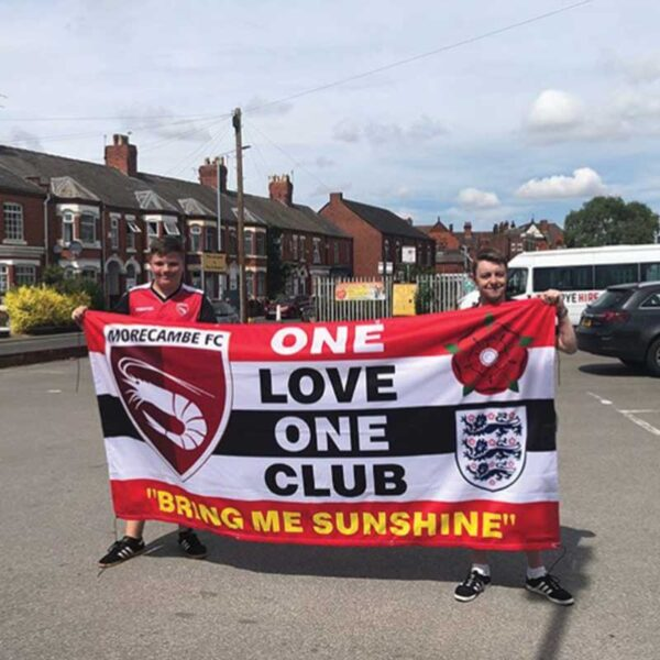 Custom Football Flag 8ft x 4ft Morecambe FC
