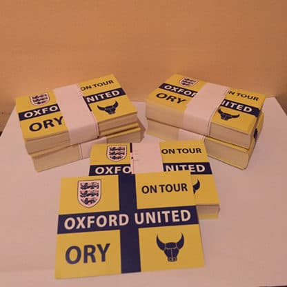 Oxford United FC Ory on tour football stickers