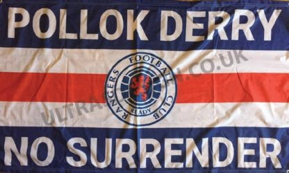 Pollok-Derry-Rangers-FC-football-flag