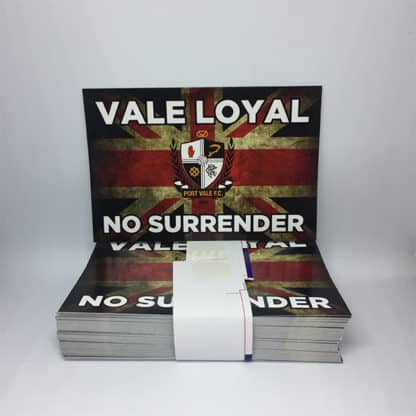 Port Vale FC Vale Loyal No surrender football stickers