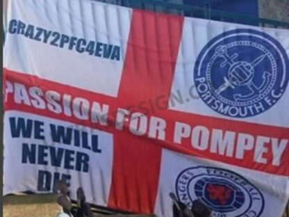Portsmouth FC Passion for Pompey 8ft x 6ft football flag