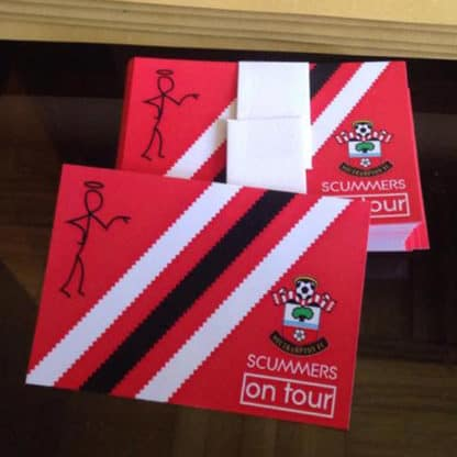 Southampton FC Scummers on tour football stickers