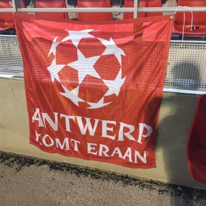 Square Football Flag Custom Designed Antwerp