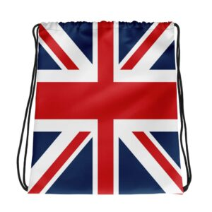Union Jack Drawstring Bag