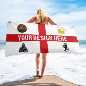 Custom Football Beach Towel