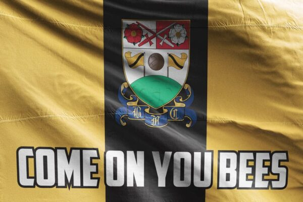 Come on You Bees: Barnet FC Flag