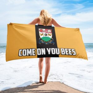 Come on You Bees: Barnet FC Beach Towel