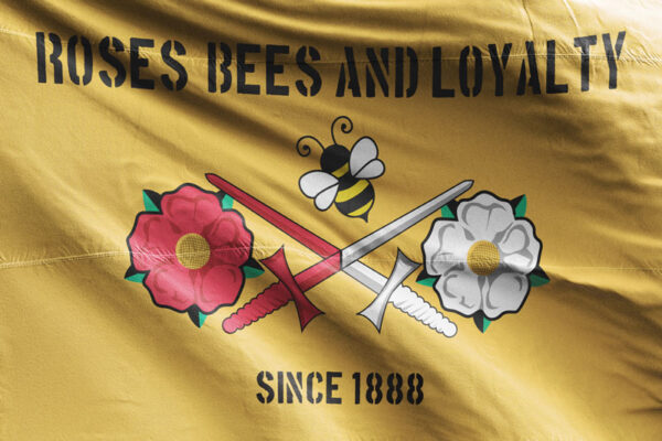 Roses, Bees and Loyalty Since 1888: Barnet FC Flag