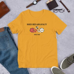Roses, Bees and Loyalty Since 1888: Barnet FC Yellow T-shirt