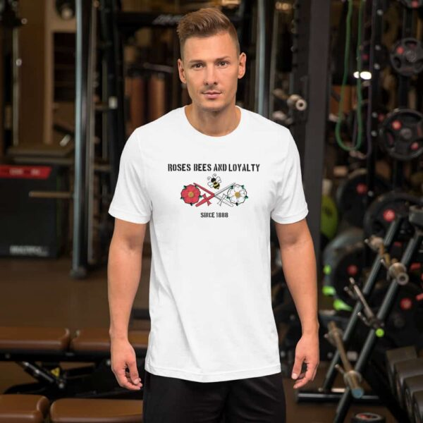 Roses, Bees and Loyalty Since 1888: Barnet FC White T-shirt