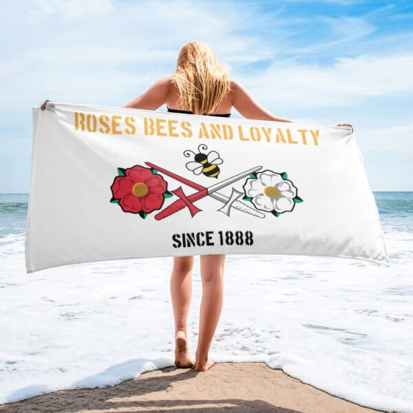 Roses, Bees and Loyalty Since 1888: Barnet FC Beach Towel