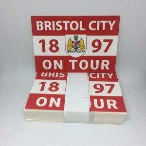 Bristol City 1897 on Tour: Bristol City FC Stickers