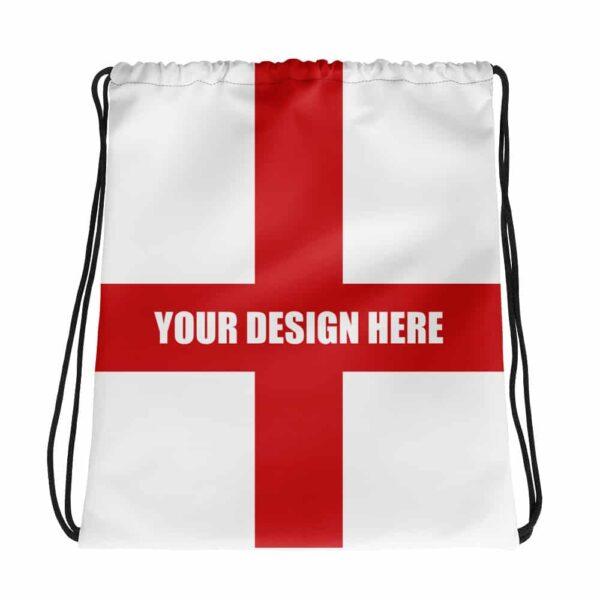 Custom Football Drawstring Bag