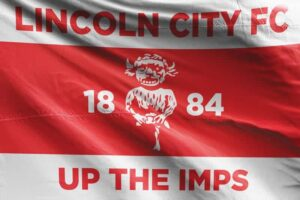 Up the Imps: Lincoln City FC Flag