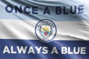 Once a Blue, Always a Blue: Manchester City FC Flag