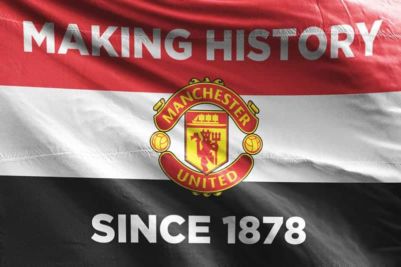 Making History Since 1878 Manchester United Fc Flag Unofficial And Designed By Fans