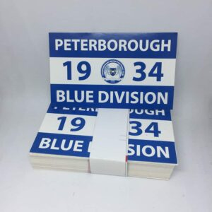 1934 Blue Division: Peterborough United FC Stickers