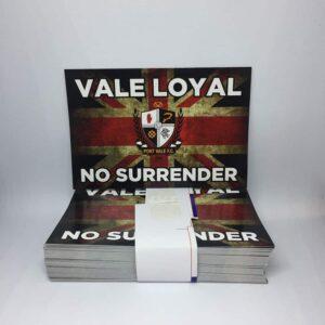 Vale Loyal No Surrender: Port Vale FC Stickers