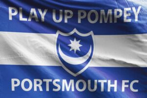 Play Up Pompey: Portsmouth FC Flag
