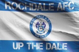 Up the Dale: Rochdale AFC Flag