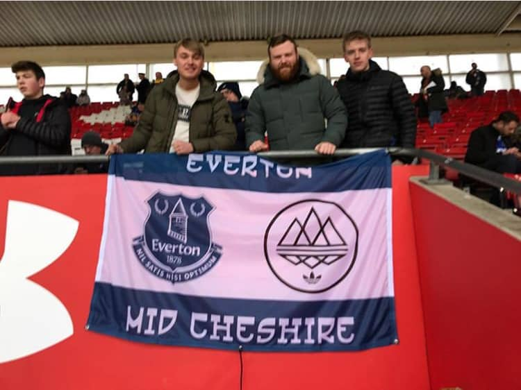 Everton Mid Cheshire Spezial custom football Flag designed on Ultras Design website