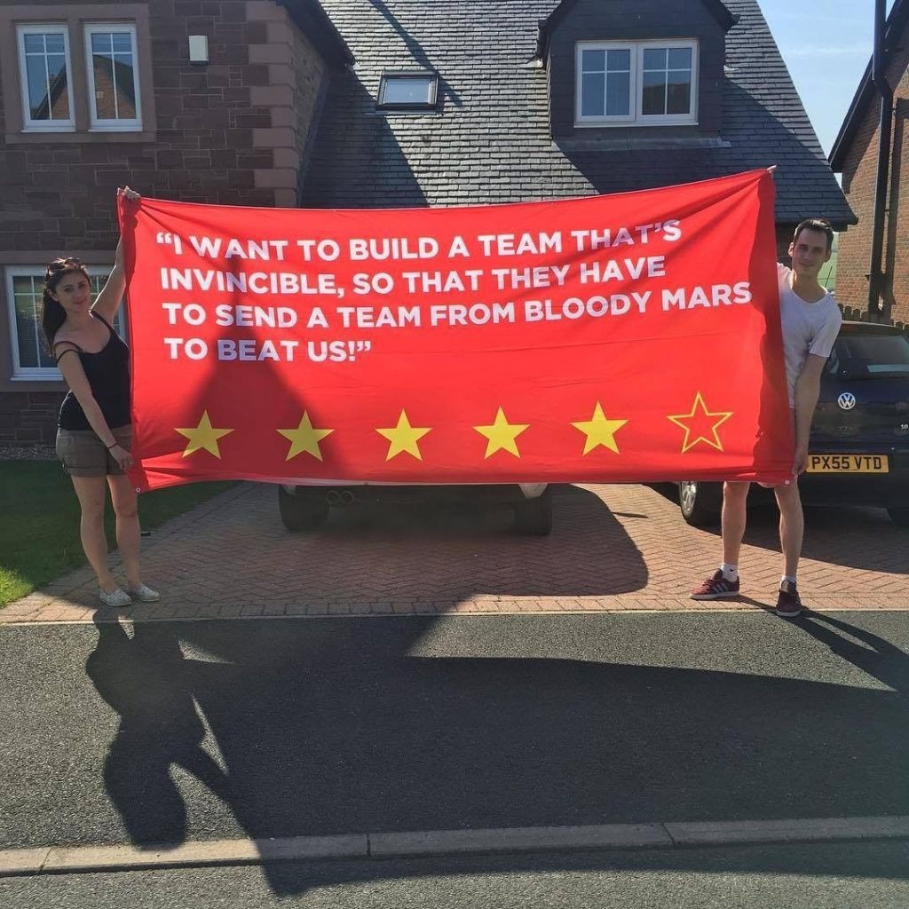 Big Liverpool football banner designed on Ultras Design website