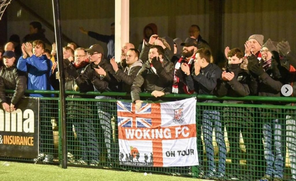 Wokinc FC personalised 5ft x 3ft flag away at Oxford flag designed on Ultras Design website